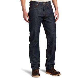 Levi's 501 Rigid Blue Original Fit Button Fly Jean